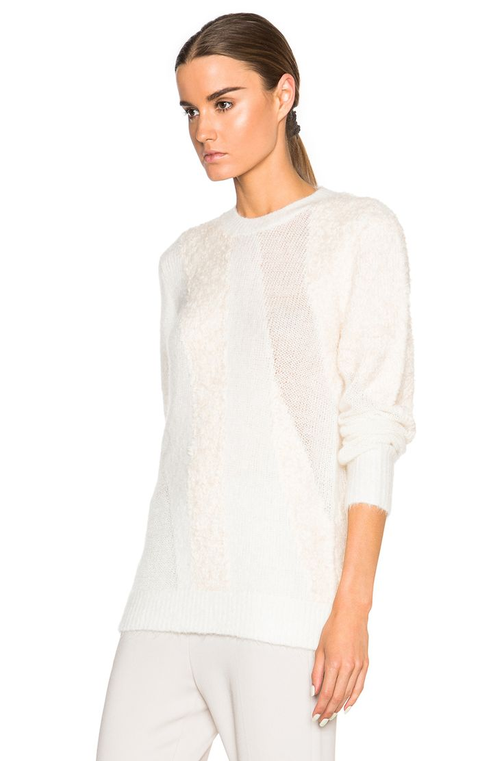 Image 2 of 3.1 phillip lim Multi Textured Sweater in Ivory