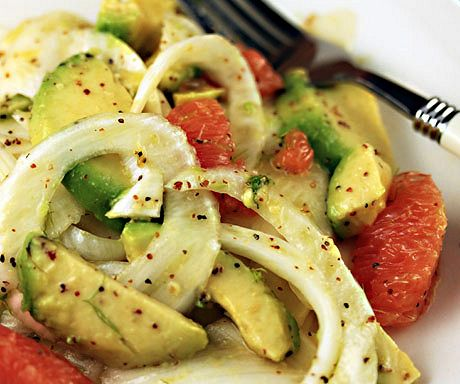 Fennel, avocado and grapefruit salad, a green treat for the holiday table. #vegetarian #glutenfree