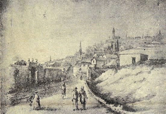 ZANTE - olld gravure c. 1845