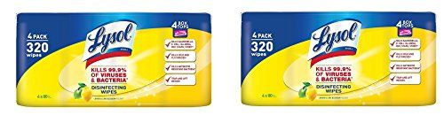Lysol Disinfecting Wipes, Lemon and Lime Blossom SMZGnf, 640ct (4X80ct)  Disinfects and kills 99.9 percent of viruses and bacteria  Kills 99.9 percent of viruses and bacteria  Stops the spread of germs  Perfect for touch up cleaning  Safe to use on electronics, Smartphones, Tablets and Remote Controls