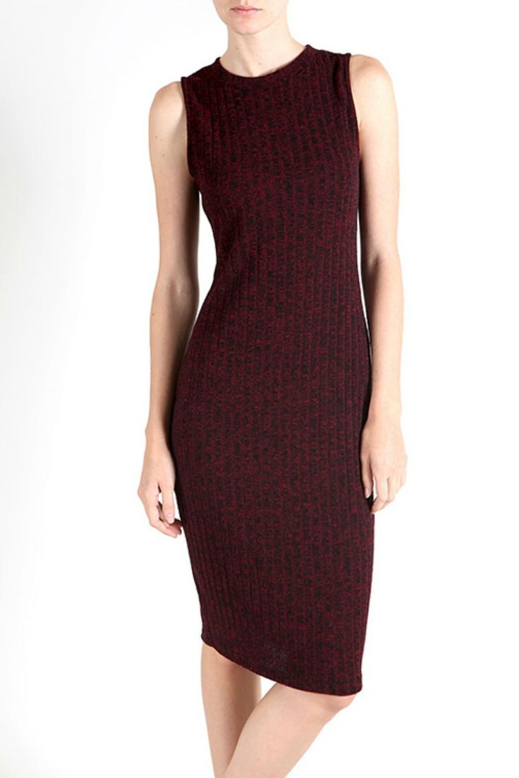 Beautifully knit ribbed sleeveless dress. This super soft, marbled yarn dress moves with you. Such a great basic. Layer a leather bomber for an edgy look or cropped velvet blazer for a more sophisticated look.   Ribbed Sleeveless Dress by My Beloved. Clothing - Dresses - Midi Clothing - Dresses - Casual Minnesota