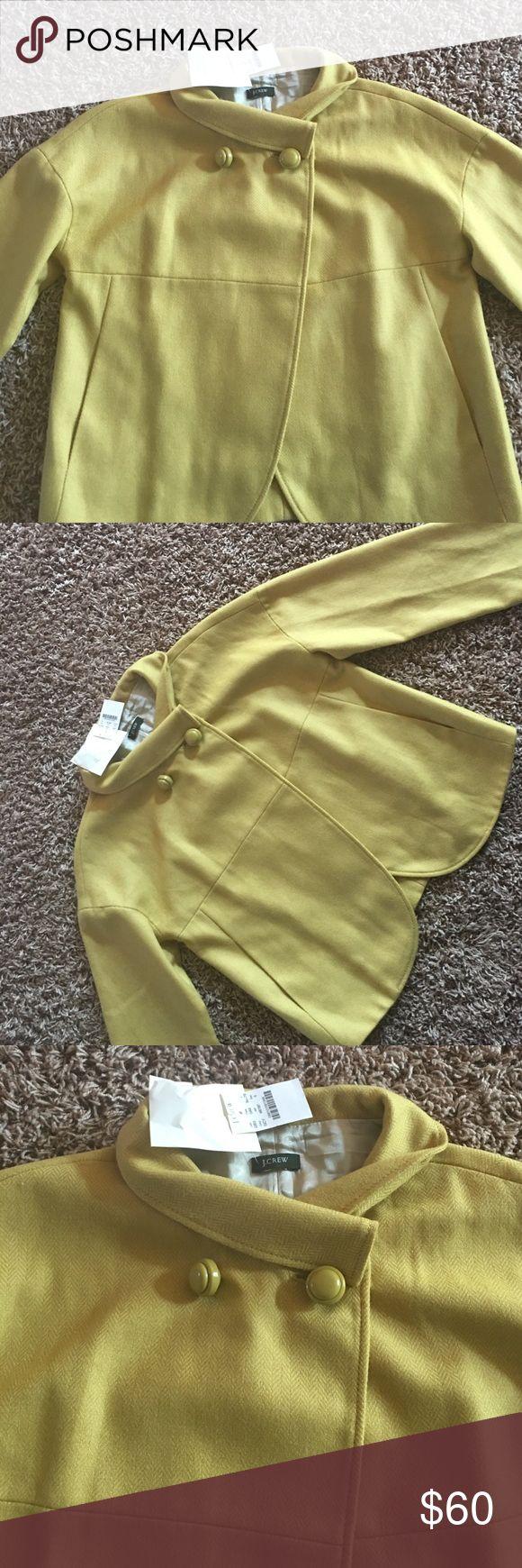 J CREW BLAZER 💕FINAL SALE💕 Never worn, mustard color in mint condition. J CREW Jackets & Coats Blazers