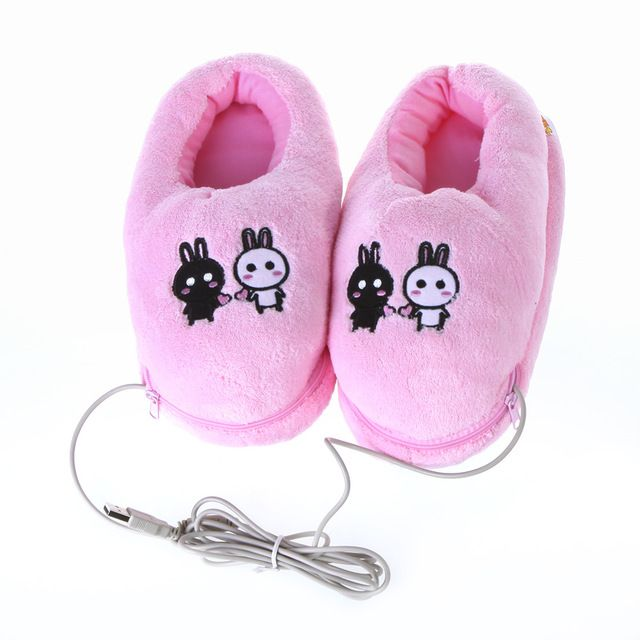 Safe and Reliable Plush USB Foot Warmer Shoes Soft Electric Heating Slipper Cute Rabbits Pink Price on the app: US $7.74 US $7.96 /piece Click link to buy other product http://goo.gl/fgmm8J
