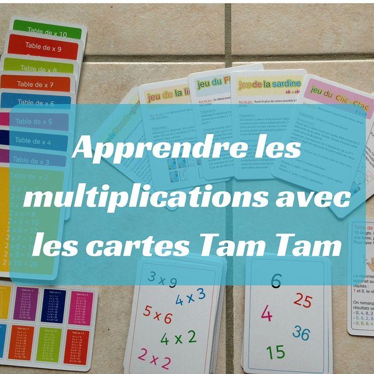 Les cartes Tam Tam sont un excellent moyen d'apprendre les tables de multiplication en s'amusant.