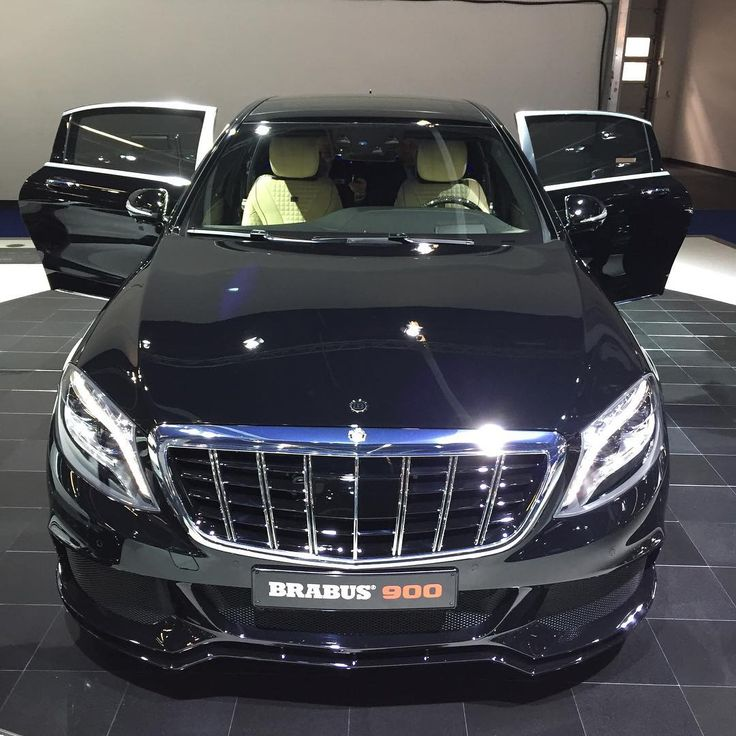 new brabus design grill with vertical chrome lines and