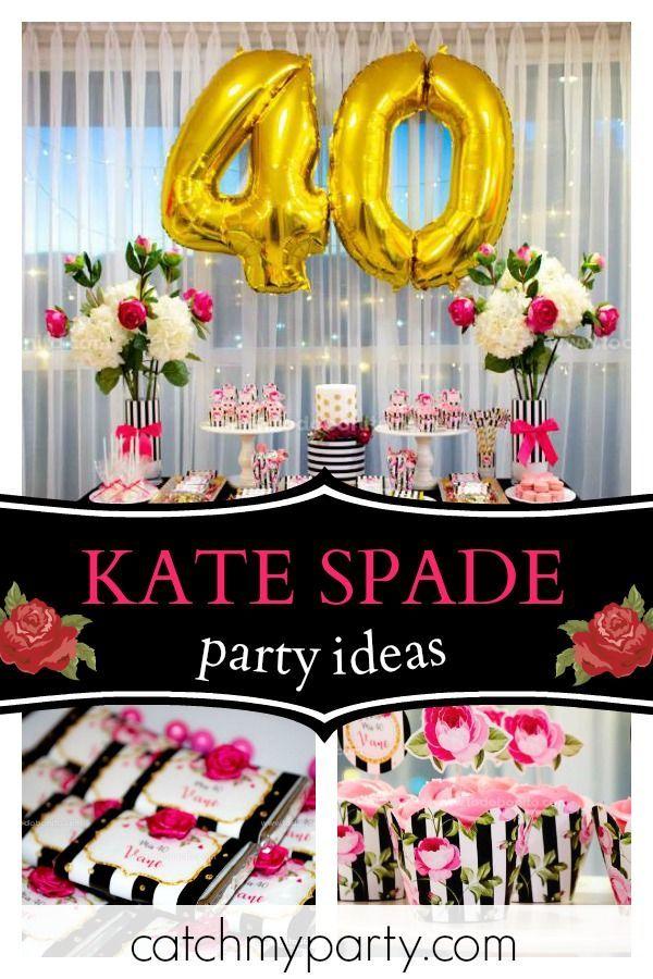 Kate Spade Birthday Mis 40 40th Birthday Parties 40th