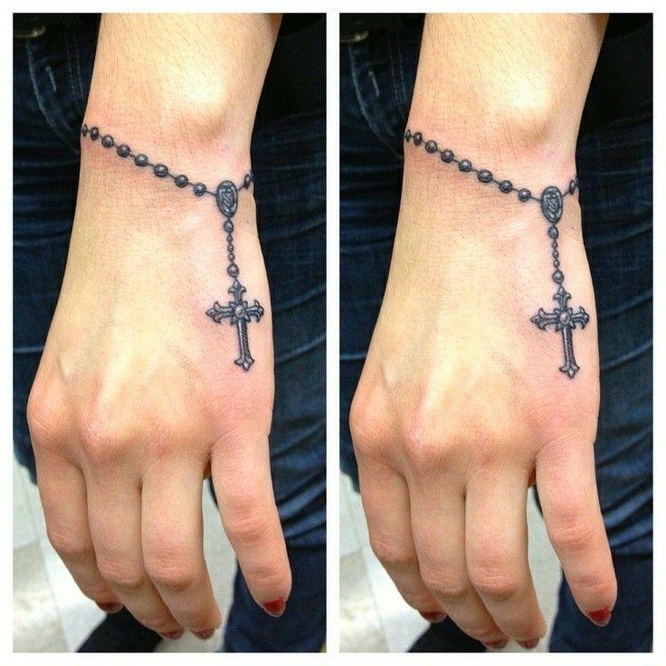 Rosary Hand Tattoos For Women Wrist Tattoos For Women Hand Tattoos