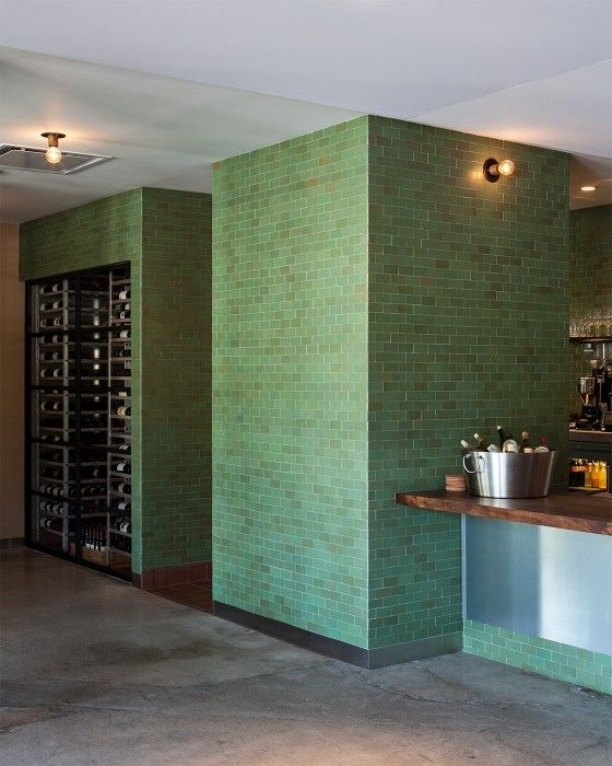Green Subway Tiles - The Farmshop, California