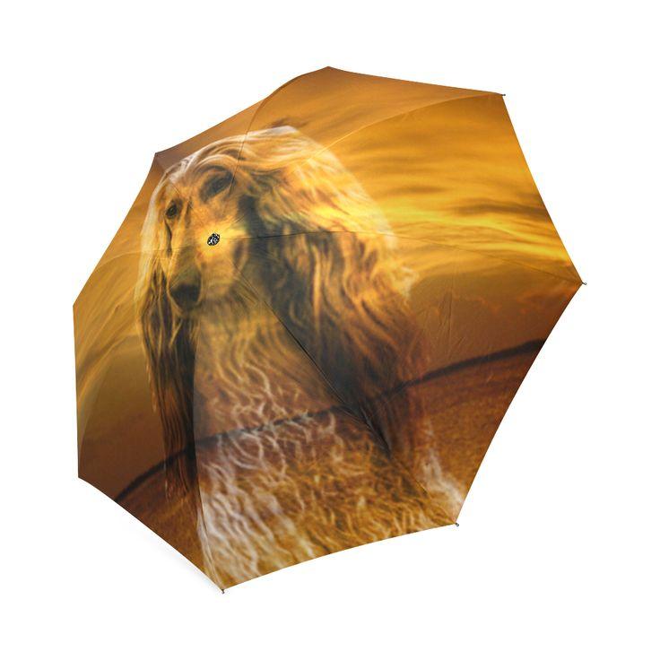 Dog Afghan Hound Foldable Umbrella