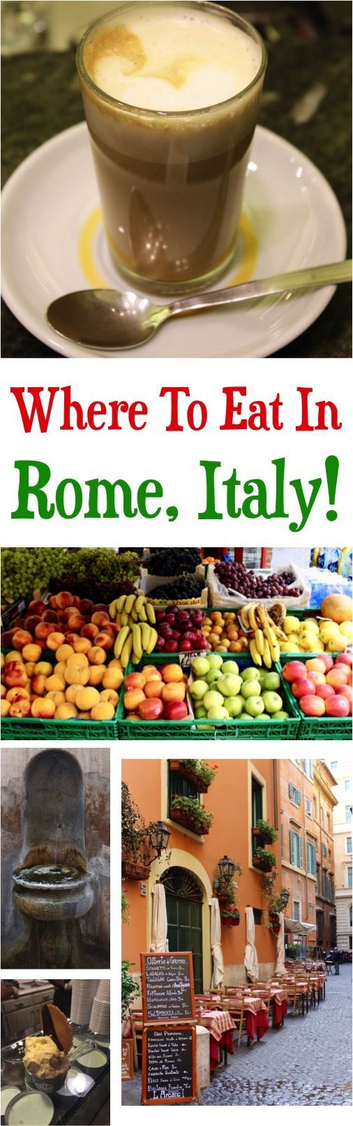 Rome Italy Food - Best authentic Italian food - eat where the locals eat!  Where to find the best coffee, pasta, gelato, and more on your Italy vacation! | at NeverEndingJourneys.com