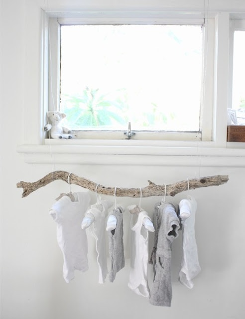 Natural drying rack...LUV THIS!