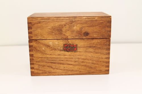 Join. Vintage recipe boxes think