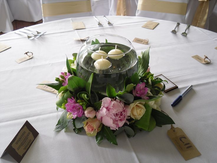 Wedding Flower Arrangements For Round Tables : Best images about rent wooden tables on