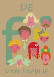 Retro alfabet poster: `De F van Familie` | Retro Alfabet Posters | SOETWAREN