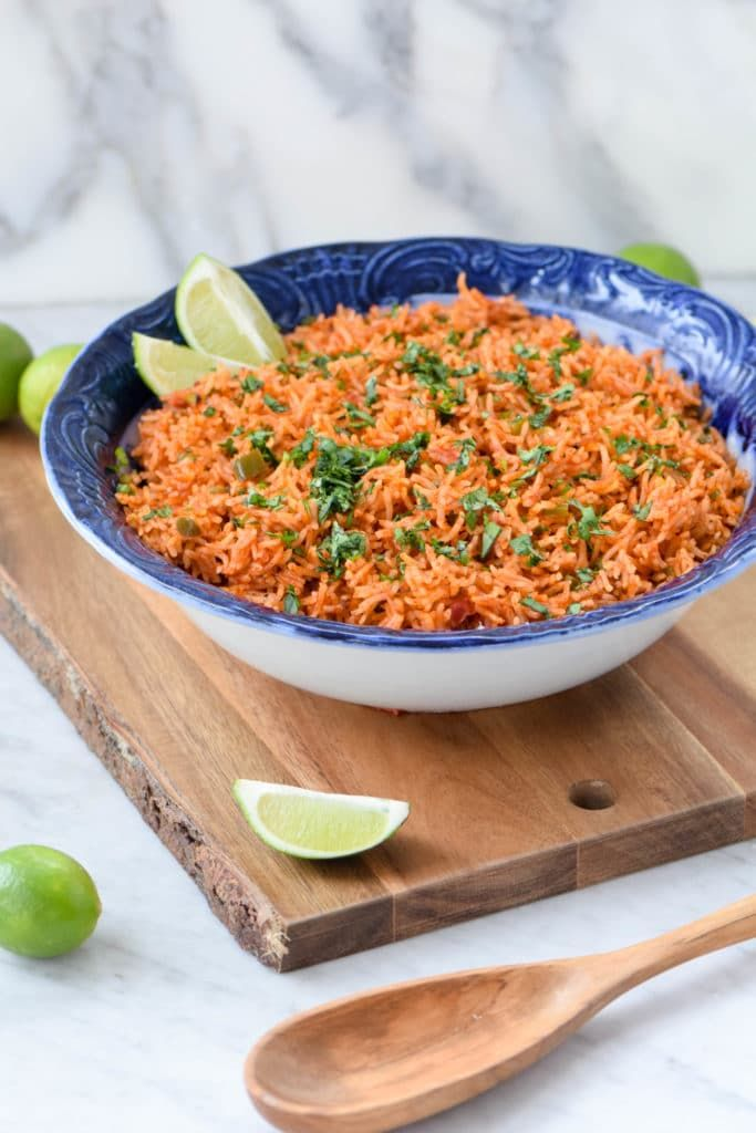 Restaurant-style Mexican rice is so easy to recreate at home using the Instant Pot! Your family will loves this. Perfect vegetarian and gluten-free side dish.