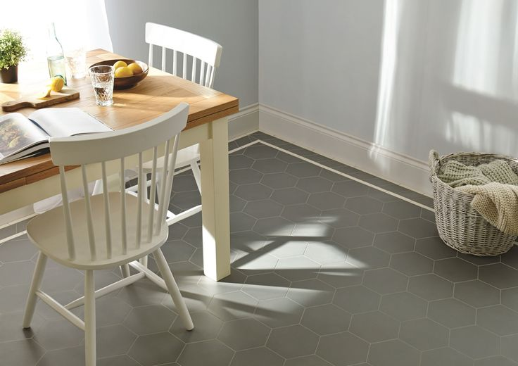 The Buckfastleigh pattern features hexagons in new Revival Grey. This pattern will make a statement in hallways, living rooms, bathrooms, kitchens - wherever it is used! New colours, patterns and shapes means our geometric Victorian style floor tiles look great in traditional and contemporary homes. originalstyle.com