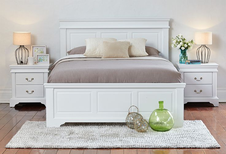 White bedroom furniture is as versatile as a crisp white shirt. It can be dressed up to be a part of a range of looks. The Burlington 3 Piece Bedroom Suite suits perfectly as part of French Provincial, Country and Contemporary looks.