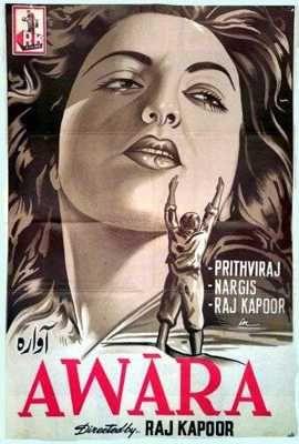 Awaara - Old Bollywood Movie starring Nargis, Prithviraj and Raj Kapoor  #Bollywood #Movie #Poster #Films #Hindi #MumbaiMatinee #Cinema #Legends