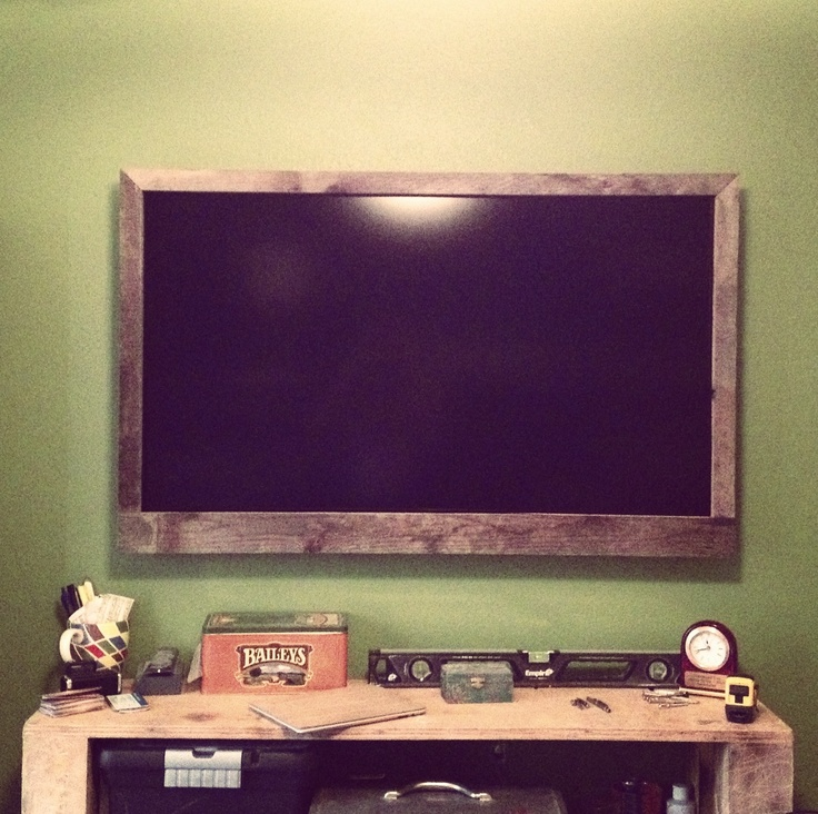 Reclaimed Wood Frame For Flat Screen Tv Home Decor