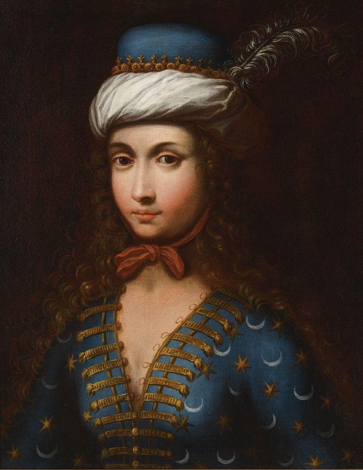 A Portrait of Lady Mary Wortley Montagu in Ottoman dress, English School, 18th/19th century.