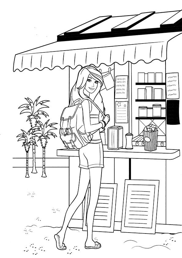 52 best Coloring pages images on Pinterest  Drawing Barbie