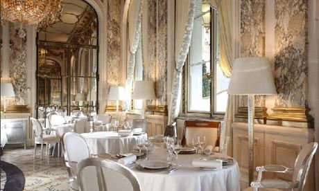 Le Meurice- a glamorous restaurant located in the Hotel Meurice in the heart of Paris.