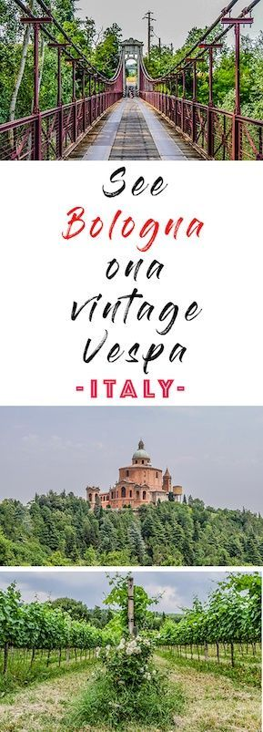 Vespa tours in Bologna offer a unique and interesting way of seeing the city whilst travelling on a quintessentially Italian scooter!  Vintage Vespa tours Bologna | Vintage Vespa tours Italy |  Scooter tours in Italy | Scooter hire in Bologna | tours in Bologna | Food and wine tours in Bologna | #vespas #scooters #bologna #italy #blogville