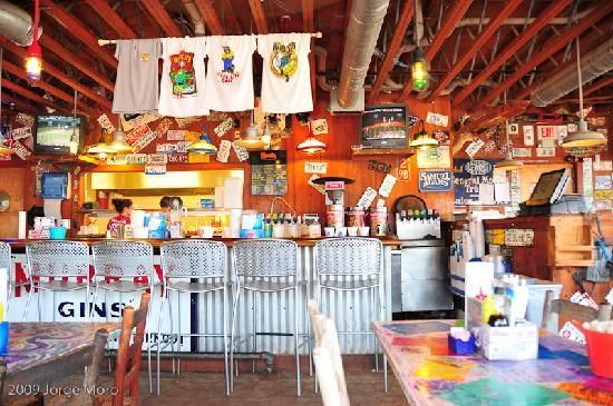 River City Cafe, Surfside Beach SC went here with my husband before we were married. Great food! :)