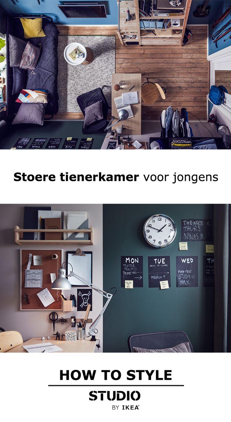 STUDIO by IKEA - Stoere tienerkamer voor jongens   #STUDIObyIKEA #inspiratie…