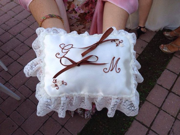 ring bearer pillow hand-picked