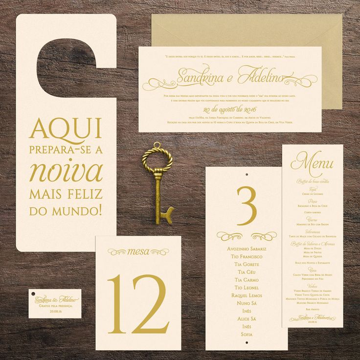 Classic stationary and gifts for Sandrina and Adelino's wedding: invitations, menus, seating plan, table markers, lady gifts, gift tags and door sign (table marker and gifts photos kindly sent by the bride and groom) #beapaper #graphicdesign #designgráfico #weddinginvitation #convitecasamento #seatingplan, #listasmesas #doorsign #weddinggifts #brindescasamento #gifttags #etiquetasbrindes #marcadoresdemesa #tablemarkers #menus #ementas