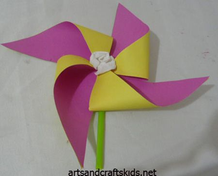 Windmill Craft   Craft ideas   Easy crafts ideas for kids – Craft projects