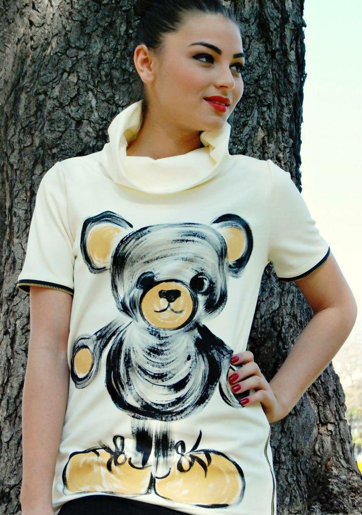 handpainted teddy bear