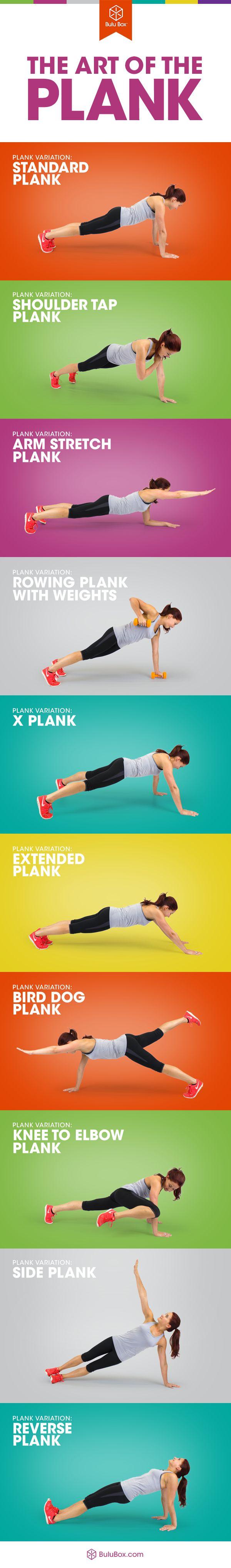 10 variações da prancha para misturar acima de seu exercício  #plank #exercis