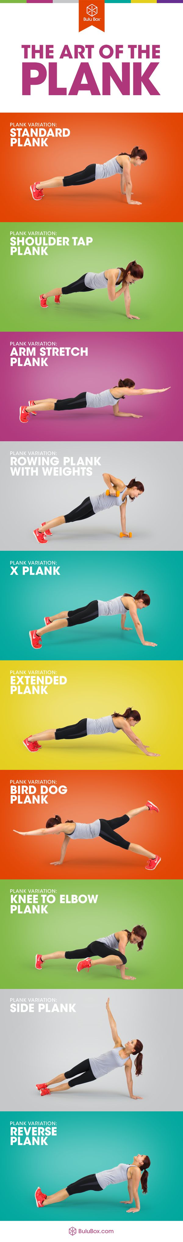 Plank Variations #plank #exercis