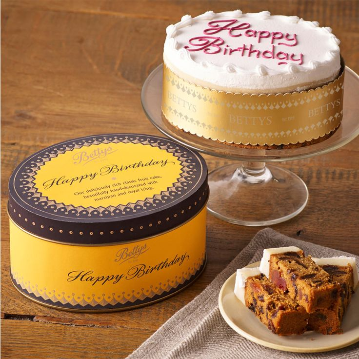 """Happy Birthday Cake in a Tin   Say """"Happy Birthday"""" in delicious style   £15.00"""