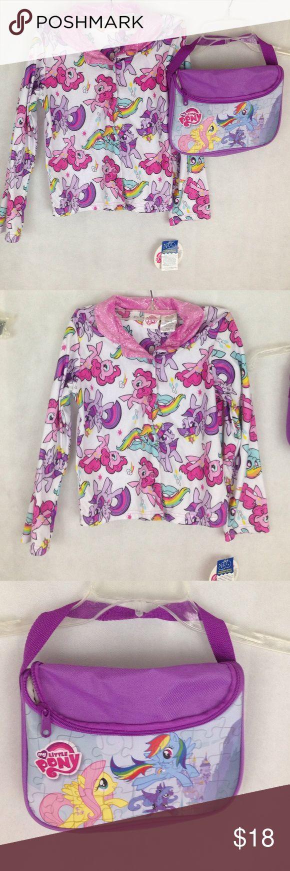 Girls my little pony bundle sleep top and bag Girls my little pony bundle. Sleep top size 7/8 and small hand bag. My Little Pony Pajamas Pajama Tops