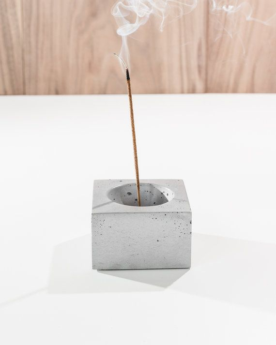 Beautiful solid cast concrete incense burner looks great as a table centerpiece and catches all the ash from your favorite incense. Comes with a 1/8