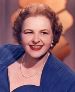 "Kate Smith (aka Kathryn Elizabeth Smith (1907 - 1986) - ""God Bless America"" became her signature song.  Irving Berlin composed God Bless America in 1918 although ti wasn't sung until 1938 by Kate to commemorate Armistice Day."