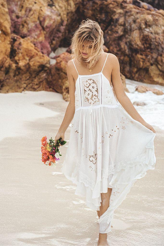 Spell Isla Bonita Embroidered Dress