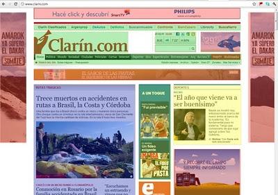 La lamentable realidad de los diarios argentinos en Internet.