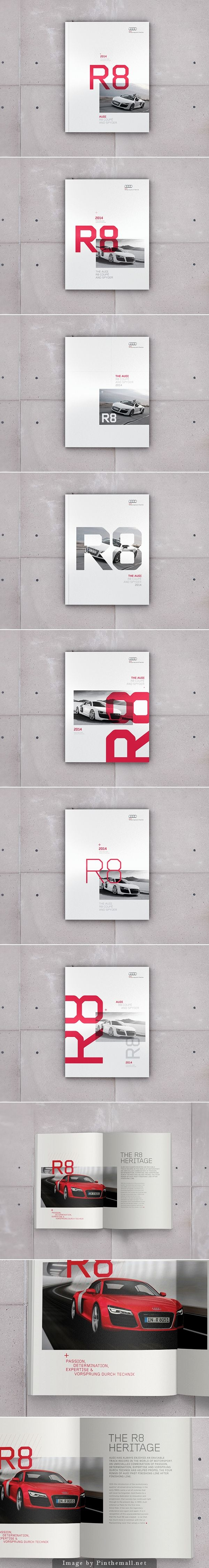 Audi R8 Brochure Editorial Design, Graphic Design, Print Design Project By Jonathan Quintin