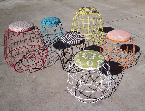 Indigi Designs ǀ The Design Tabloid - African inspired wire stool.