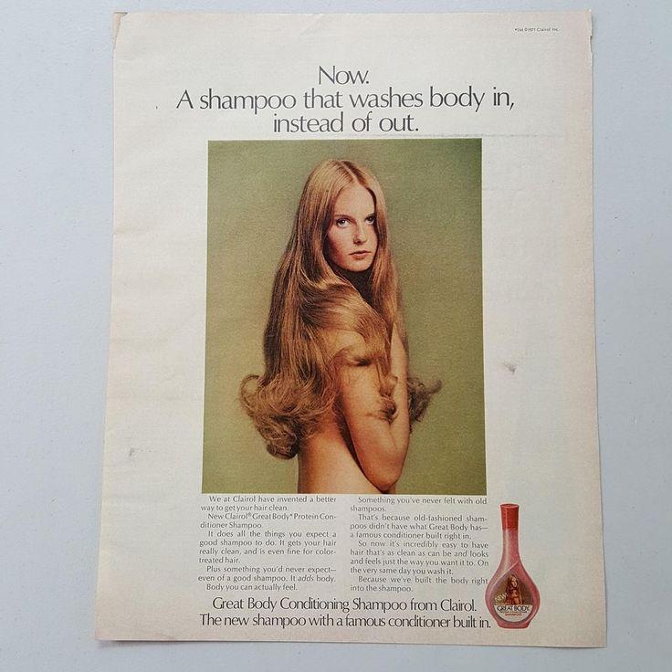 1971 Clairol Great Body Conditioning Shampoo Female Model vintage print ad    eBay