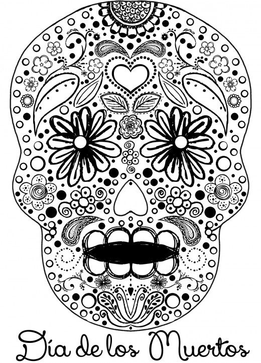 223 best day of the dead color pages images on pinterest coloring books sugar skulls and drawings
