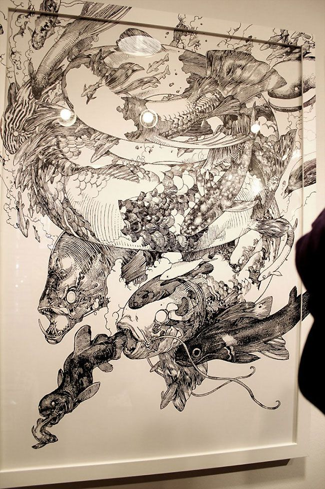 Katsuya Terada is an illustrator from Japan concentrating on detail driven sketchbook-like artworks.