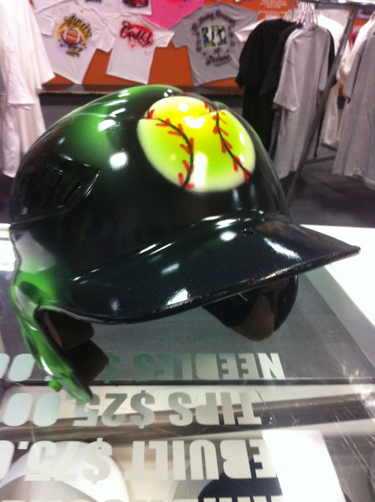 1000 images about airbrushed batting helmets on pinterest for Meadowood mall custom t shirts