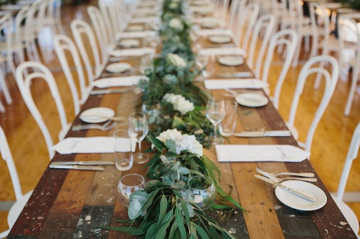 vintage timber trestle tables, bentwood chairs, crockery, glassware, cutlery, south coast weddings, south coast party hire