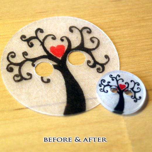 How to Make Clothing Buttons from Shrink Plastic. ~Cute for Scrapbooking too!