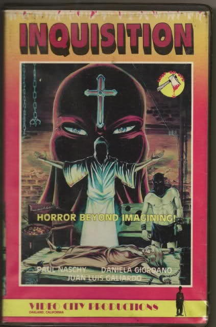 INQUISITION. Rare Video City Productions VHS tape. Naschy ...